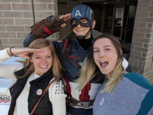 Inflowers Meet Captain America